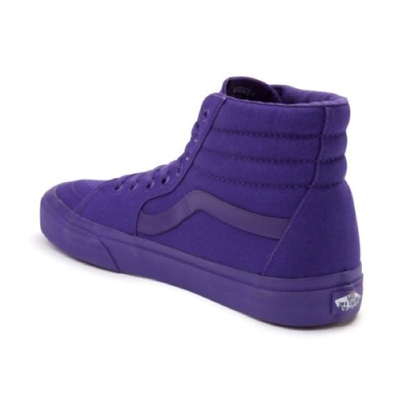 Vans Sk8 Hi Purple Monochrome Skate